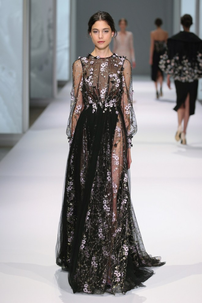 Dying black dress