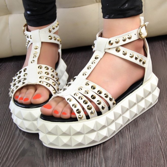 Studded Flatforms Sandals Style Domination