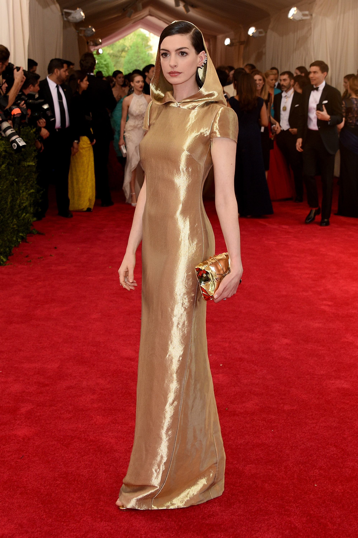 Anne Hathaway Ralph Lauren Met Gala 2015