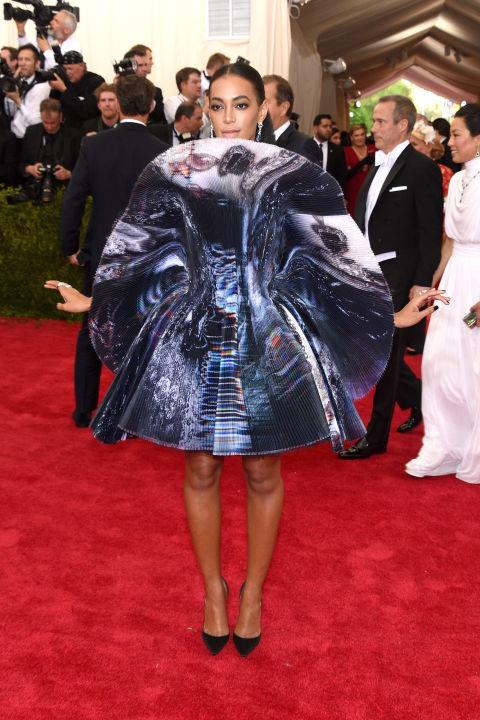 Solange Knowles Giles Met Gala 2015 NYC
