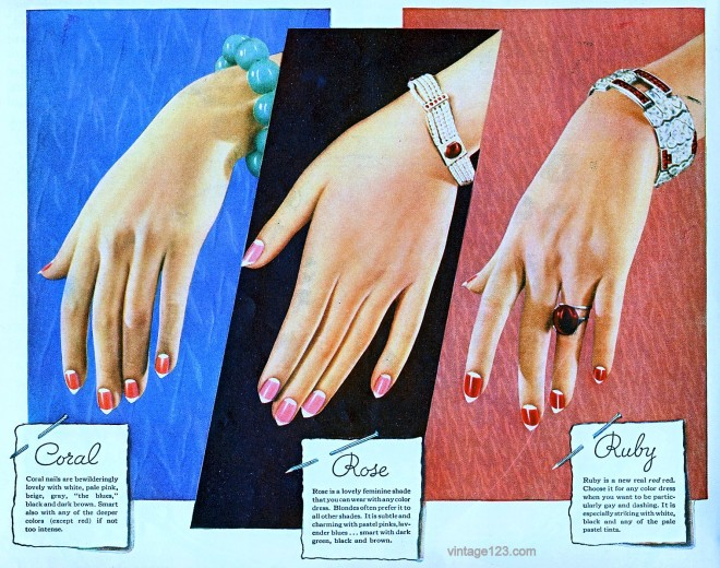 Cutex 1930s Ad Advertisement Nail Polish Cosmetics Style Domination