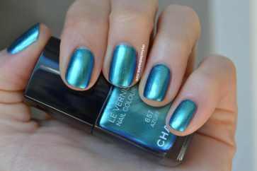 Chanel Azure nail polish manicure pedicure mani pedi love style domination style blogger fashion blog