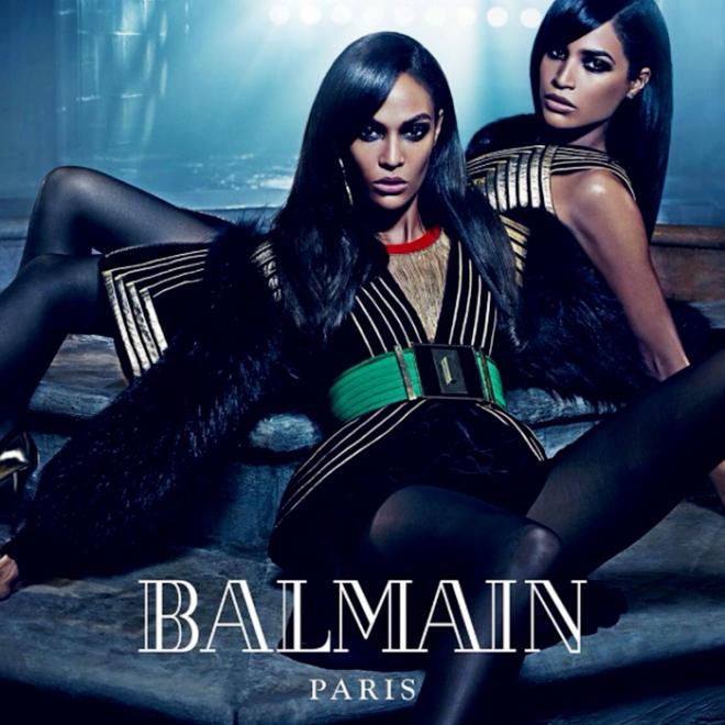 Balmain Paris Fall Winter 2015 Fashion Blogger Style Domination Couture  Erika Smalls Joan Smalls