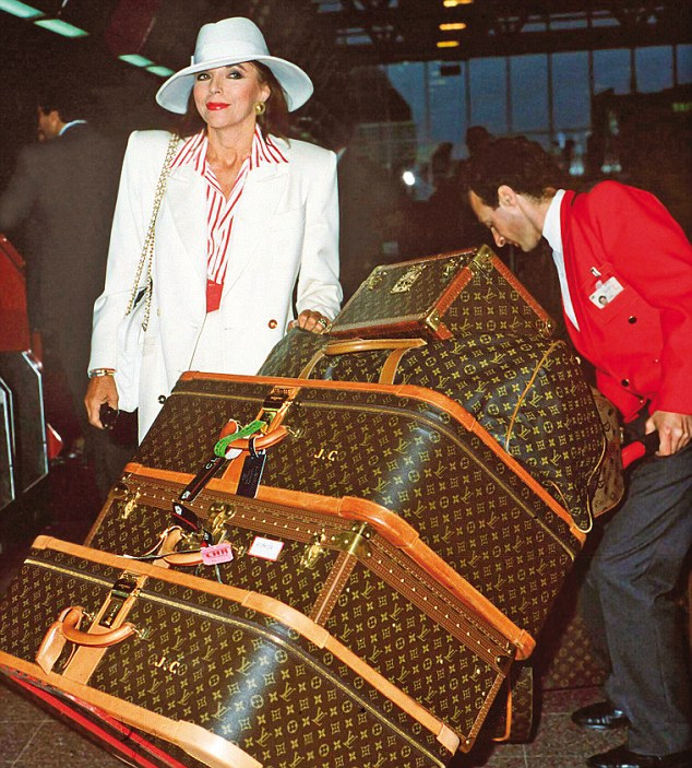 Joan Collins Louis Vuitton Luggage Style Domination Lottery Winner