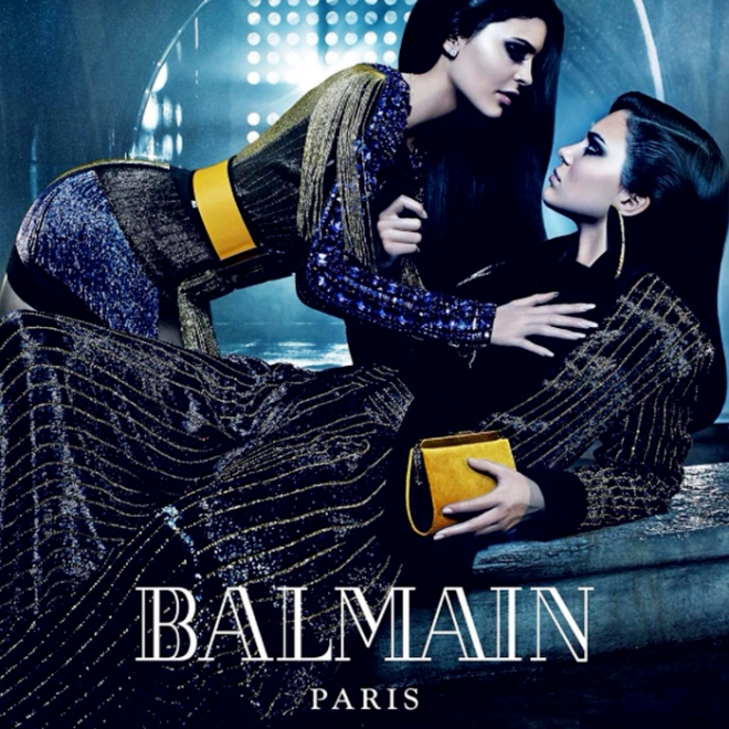 Balmain Paris Fall Winter 2015 Fashion Blogger Style Domination Couture  Kendall and Kylie Jenner Sisters