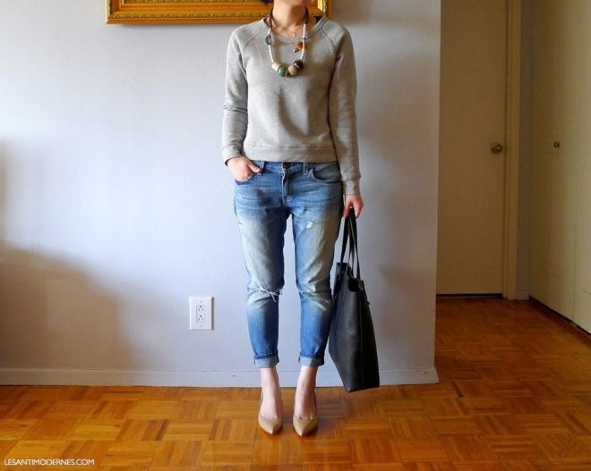 Les Anitmodernes Style Domination Grey Sweatshirt Cool Factor